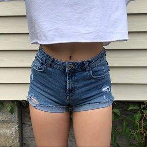 Denim shorts from Zara